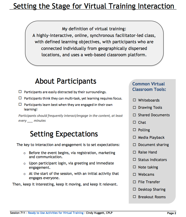 training session handout Worker safety training about the training modules the safety handout training modules are easy-to-use, customizable training materials for conducting worker safety training sessions.