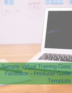 Cindy Huggett Cover - Sample Virtual Training Class Facilitator – Producer Guide Template