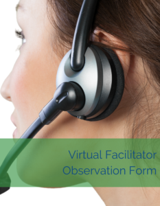 Cindy Huggett Virtual Facilitator Observation Form