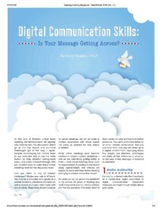 Digital Communication Skills article
